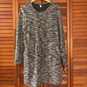 NWT MERONA Drop waist pocket sweater dress medium
